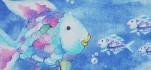 Rehastoff Regenbogenfisch blau 002X2636