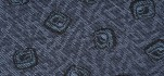 Rehastoff blau mit Würfelmuster, kaschiert 1,5mm Schaum & Charmeuse 002X6021